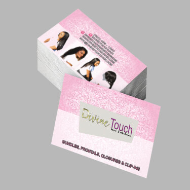 Divine Touch Hair Extensions Business Cards